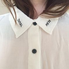 total mess #embroidery #white #shirt #pixiemarket #fashion #womenclothing @pixiemarket.