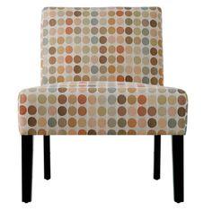 Portfolio Niles Beige Retro Dot Armless Chair - Overstock™ Shopping - Great Deals on PORTFOLIO Living Room Chairs