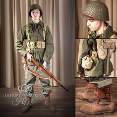 American Paratrooper Combat Uniform-Private Soldier - History in the Making American Soldiers, American Civil War, Native American, Ww2 History, British History, Ancient History, American History, Us Army Uniforms, Military Love