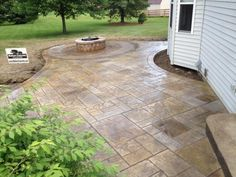 Decor of Concrete Patio Ideas On A Budget Raised Stamped Concrete Patio With Timber Tech Express Rail