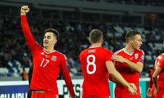 Georgia v Wales - 2018 FIFA World Cup Qualifying - Group D - Boris Paichadze Dinamo ArenaWales' Tom Lawrence celebrates scoring his side's first goal of the game during the 2018 FIFA World Cup Qualifying, Group D match at the Boris Paichadze Dinamo Arena, Tbilisi. PRESS ASSOCIATION Photo. Picture date: Friday October 6, 2017. See PA story SOCCER Georgia. Photo credit should read: Tim Goode/PA Wire. RESTRICTIONS: Editorial use only, No commercial use without prior permission.