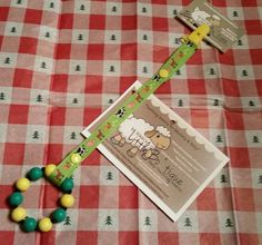 Teether in John Deere colors with matching farm animals holder Visit us on Facebook to see more: https://www.facebook.com/NikkisLittleBoTique