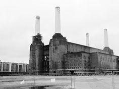 Outside Battersea Power Station
