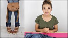 Modne dżinsy z frędzlami DIY - sposób na jeans - hit gwiazd