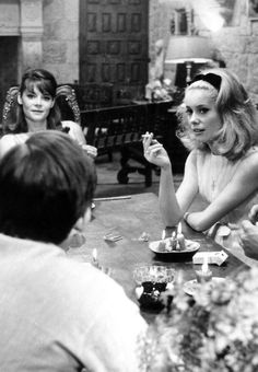 Catherine Deneuve and her sister Françoise Dorléac #EresParis #EresInspired #CatherineDeneuve #Parisian #Lingerie #FW15 #BlackandWhite #Coffee #Cafe