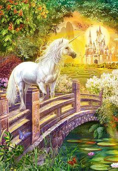Puzzle Jardín Encantado con Unicornios, 1000 piezas, Castorland  http://sinpuzzle.com/puzzle-1000-piezas/1109-102457-puzzle-jardin-encantado-con-unicornios-1000-piezas-castorland.html