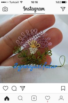 This post was discovered by nezihe Kodalak. Discover (and save!) your own Posts on Unirazi. Needle Lace, Lace Making, Quilling Jewelry, Crochet, Save Yourself, Tatting, Needlework, Elsa, Decoupage