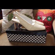 Selling this Delman Sling-Back Heels in my Poshmark closet! My username is: brimyselfandeye. #shopmycloset #poshmark #fashion #shopping #style #forsale #Delman #Shoes