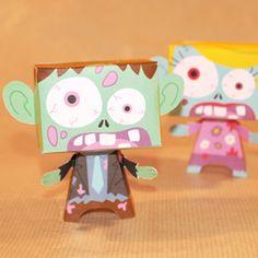 Créez des paper toy en forme de zombies pour amuser les enfants pendant Halloween. Une idée de décor Halloween qui amusera les enfants. Découvrez d'autres ateliers...