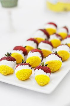 @Anna Verhalen strawberries with yellow - not as bad as I imagined
