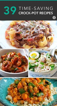 39 Time-Saving Crock-Pot Recipes — Cook once and eat great all week! #crockpot #dinner #recipes #greatist