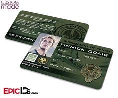 "The Hunger Games Inspired Panem District 4 ""Finnick Odair"" Custom Identification Card"
