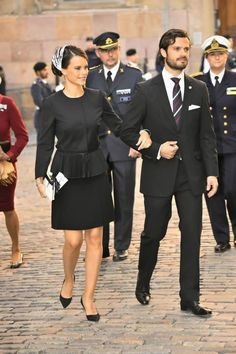 MyRoyals: Riksdagen, Opening of Parliament, Church Service, Sweden, September 30, 2014-Miss Sofia Hellqvist and Prince Carl Philip