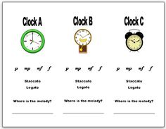 Syncopated Clock - Great for describing dynamics, articulation, and timbre. Then arrange the clocks to find the form of the piece.
