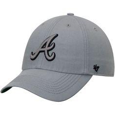 e3ad00bb018 Men s  47 Gray Atlanta Braves Storm Bracer Franchise Flex Hat