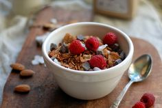 Chocolate Almond Granola!!!  This granola looks amazing! And it's a healthy snack with great ingredients