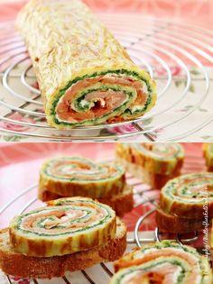 ButterfliesEatReadLove: [Lets cook together #2] Käserolle mit Lachs und Spinat