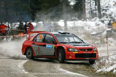 Mitsubishi Evo WRC rally car