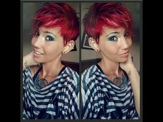 how to style a pixie cut a few different ways - YouTube