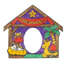 Color Your Own Nativity Photo Frames - OrientalTrading.com