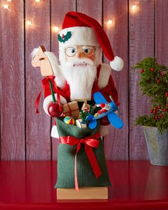 Nutcracker Santa with Toys by Ulbricht at Horchow. #HORCHOWHOLIDAY14