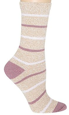Capelli New York Soft Boot Sock With Metallic And Marled Stripes Natural Combo One Size ** Visit the image link more details.