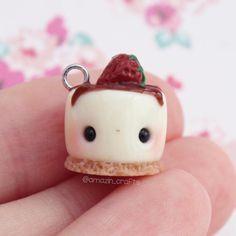 Kawaii Strawberry S'mores Charm