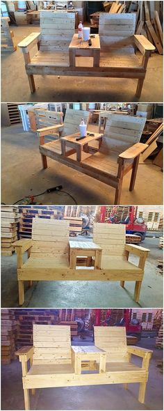 Having a simple crafting of the bench of wood pallet in the house garden area is the utmost demand o