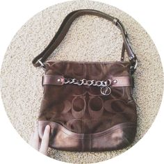Coach Purse/Crossbody bag Excellent  Used condition. Second pic shows only flaws. Can adjust strap to make closer or farther away from armpit . No trades. 100% authentic . Offers welcome Coach Bags Crossbody Bags