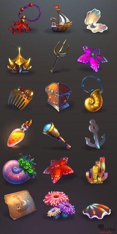 Game art for MURKA on Behance: