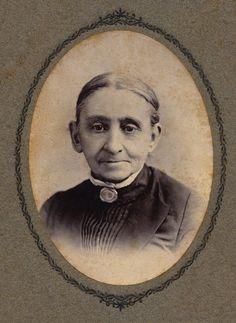 Elderly Lady Wearing Hair Mourning or Sentimental Brooch, Albumen Print on Cardboard, Circa, 1885  