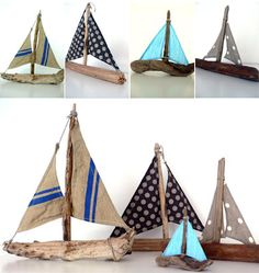 Bâteaux en bois flot