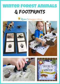 Winter is a great time to teach preschoolers all about winter animals and footprints! Check out these fun ideas here!