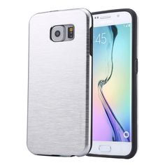 [$2.35] MOTOMO Brushed Texture Metal + TPU Protective Case for Samsung Galaxy S6 Edge+ / G928(Silver)