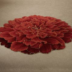 $159 Neena Bloom Flower Shaped Round Rugs   The Bold And Beautiful Neena  Bloom Carnation Flower