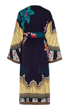 Printed Satin Midi-Length Kimono by Etro Kimono Fashion, Boho Fashion, Womens Fashion, Fashion Design, Cotton Jacket, Daily Fashion, Designer Dresses, Women Wear, Style Inspiration