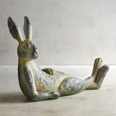 Weathered Relaxing Bunny | Pier 1 Imports