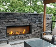 Outdoor Gas Fireplace - sbfireplace.com More