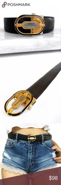 Vintage Ysl reversible belt Super chic! Reversible black/brown Yves Saint Laurent Accessories Belts