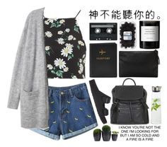 """""""where are you now that i need you?"""" by never-letmego ❤ liked on Polyvore featuring Topshop, Birkenstock, Byredo, MANGO, CASSETTE and blomus"""