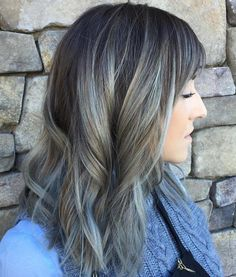 Silver And Brown Balayage Hair