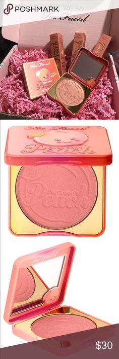 Too Faced Papa Don't Peach Blush New Too Faced Papa Don't Peach Peach-Infused Blush. Too Faced Makeup Blush