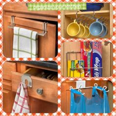 Hooks for the kitchen from Clever Container. www.mycleverbiz.com/BethToney