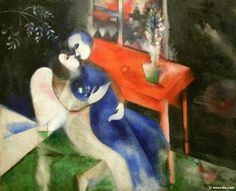 The Lovers,1913-1914 - Marc Chagall painting