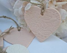 The Polka Dot Closet: Clay Heart Tags