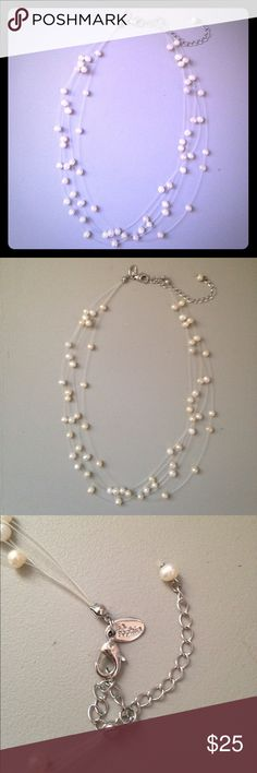 Lia Sophia Freshwater Pearl Necklace Very good used condition. Lia Sophia Jewelry Necklaces