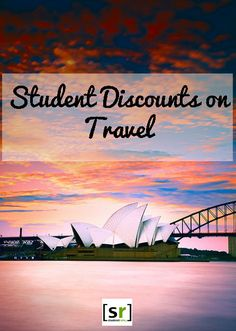 Get student discounts on travel: flights, study abroad weekend tours, hotels, hostels, rental cars,  more!!