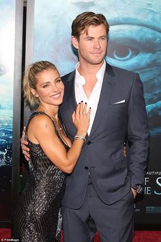 Loved up: Elsa Pataky (L) and husband Chris Hemsworth wed in 2010 and have three children ...
