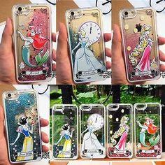 Disney Princess Liquid Sparkle Glitter Quicksand Hard Case For iPhone 6 / 6 Plus