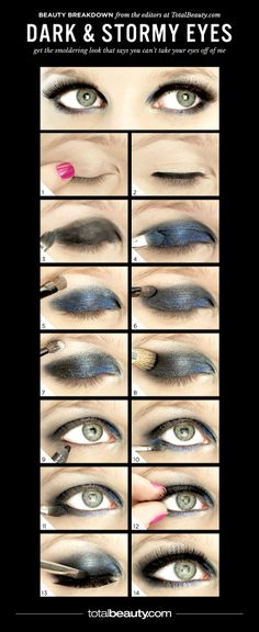 Get the Look: Dramatic Smoky Blue Eye Makeup
